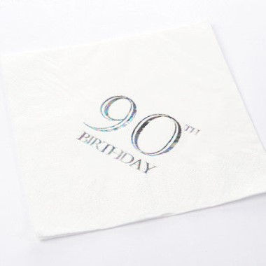 N J Products   90th Birthday Napkins