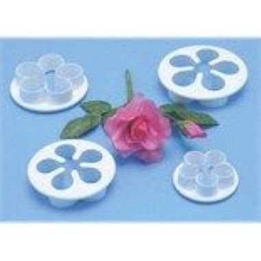PME - 5 Petal Flower Cutter - Set of 4