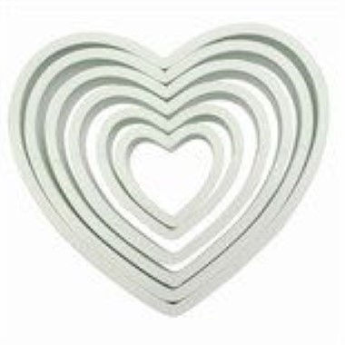 PME - Plastic Heart Cutters - Set of 6