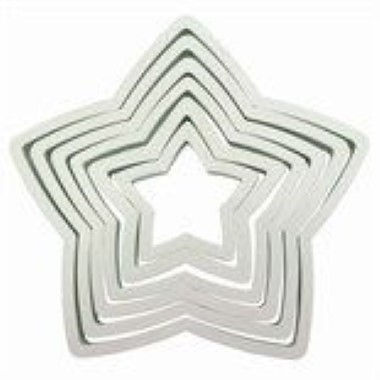 PME - Plastic Star Cutters - Set of 6