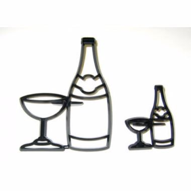 Patchwork Cutters - Bottle and Glass