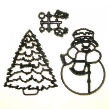 Patchwork Cutters - Large Snowman and Tree