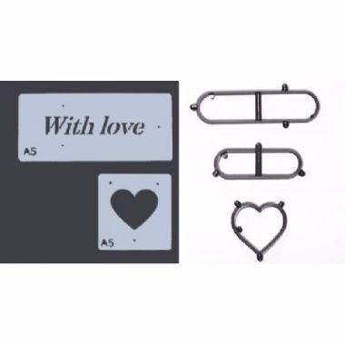 Patchwork Cutters - With Love Stencil