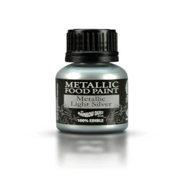 Rainbow Dust - Metallic Food Paint -Light Silver