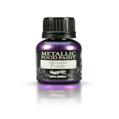 Rainbow Dust - Metallic Food Paint - Purple