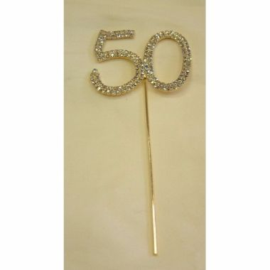 Diamante Number 50 Gold